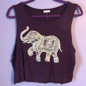 Purple elephant crop top